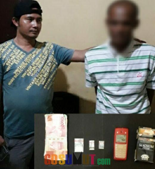 Transaksi Sabu di Perbatasan Tanjung Beringgin- Seirampah, Terduga Tak Berkutik Ditangkap Polisi