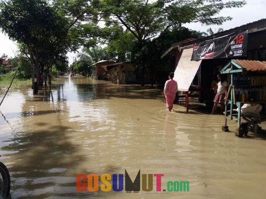 Sungai Bedagai Meluap, Sei Rampah Dilanda Banjir