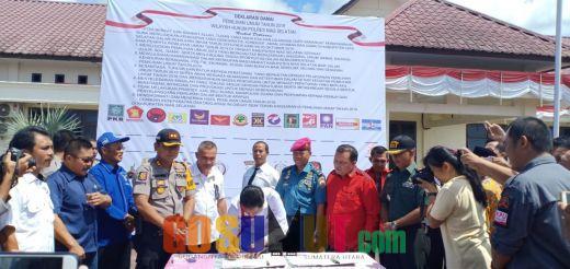 Polres Nisel bersama Forkopimda Deklarasi Pemilu Damai