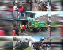 Duarr.... Mobil Mini Bus Meledak, 3 Unit Ruko Ludes Terbakar