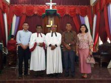 Baru saja Menjabat, Kapolsek Bilah Hilir Sambangi Jemaat Gereja