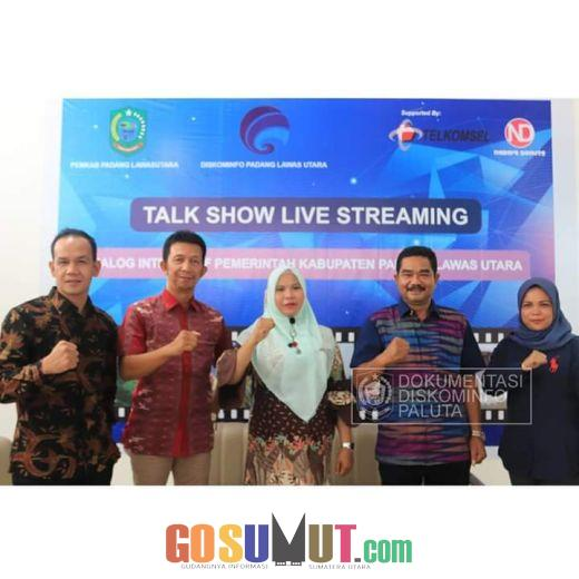 Dinas Kominfo Paluta Tayangkan Live Streaming