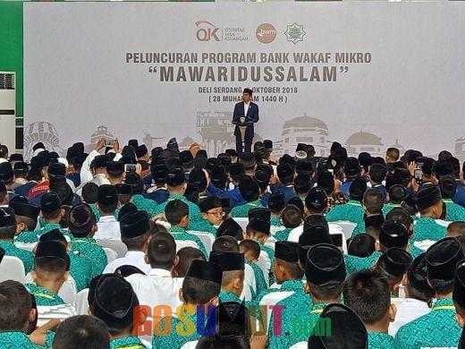 Wujudkan Pemerataan Ekonomi yang Berkeadilan, Presiden Resmikan Program Bank Wakaf