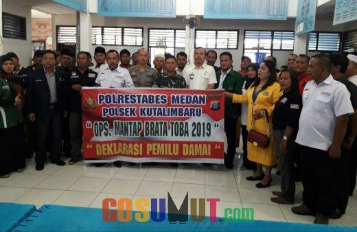 Polsek Kutalimbaru Deklarasi Pemilu Damai