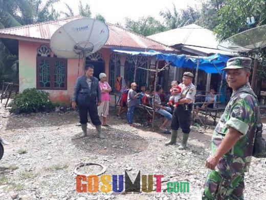 Pasca Banjir, Personil Polisi dan Koramil Siaga di Lokasi Pemukiman Warga