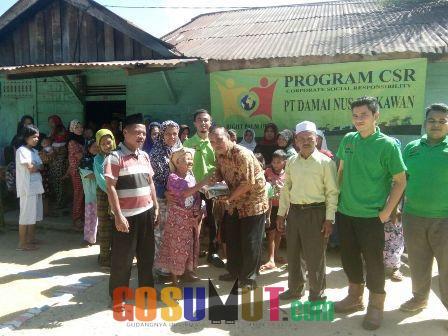 PT Damai Nusa Sekawan Gelar Pasar Murah Migor dan Sambangi Jompo