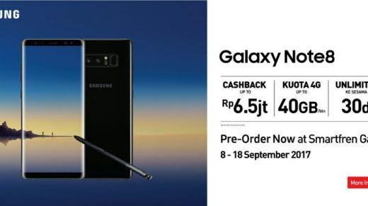 Paket Bundling Smartfren Buka Pemesanan Samsung Galaxy Note8