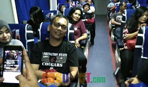 Sihar Hebohkan Suasana Mudik di Kereta Api Sribilah