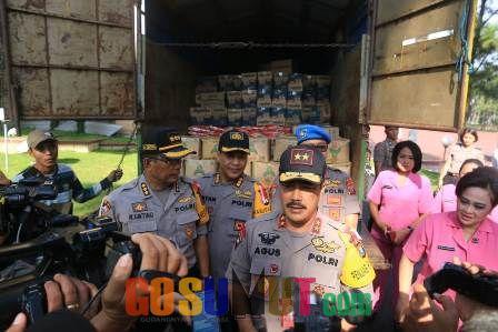 Polda Sumut Kirim Bantuan Logistik
