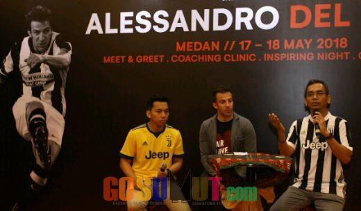 Puji Gaya Rap-rap, Del Piero: Saya Yakin Banyak Pemain Sumut yang Berbakat