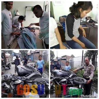 Lakalantas di Medan Deli, Mahasiswi Patah Tulang