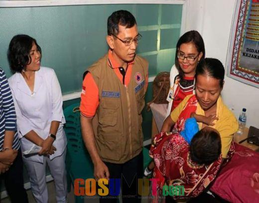 Tinjau Pelayanan, Bupati Beri Perhatian Khusus Penderita Stunting di Nagori Siantar Estate