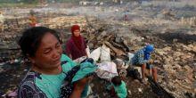 Korban Kebakaran di Belawan Menggungsi ke Masjid dan Teras Warga