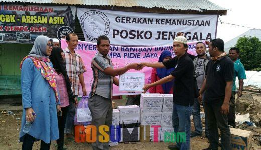 Forwakes dan FJPI Serahkan Bantuan Kemanusiaan ke Korban Gempa Pidie Jaya