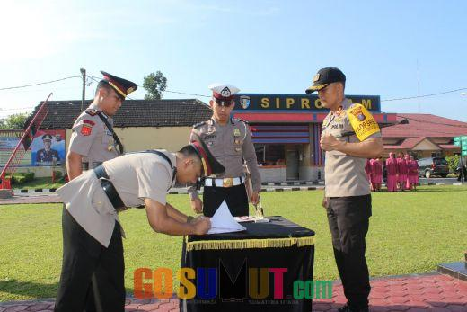 Penyegaran 3 Jabatan Perwira Polres Labuhanbatu Diserahterimakan