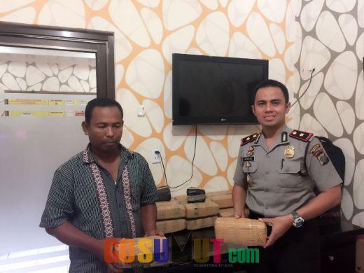 Polisi Amankan 26 Kilogram Ganja Kering Asal Aceh