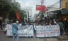 Aliansi Mahasiswa Sumut Demo Tuntut Hentikan Pembungkaman Hak Demokratis Mahasiswa