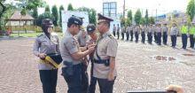 Kapolres Nisel Pimpin Upacara Sertijab Kasat Lantas