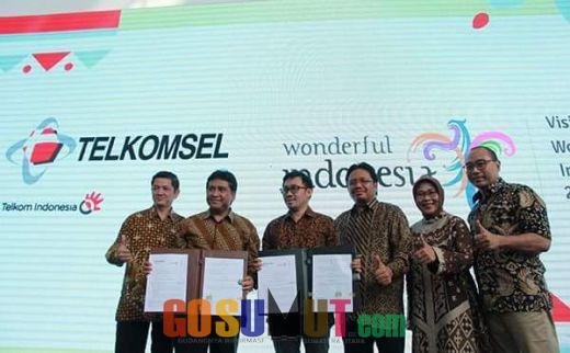 Telkomsel Dukung Program Kemenpar RI 'Visit Wonderful Indonesia 2018' untuk Tingkatkan Wisatawan Mancanegara