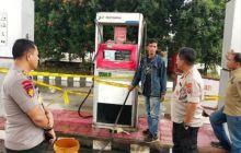 SPBU Penjual Solar Bersubsidi Disegel Ditpolair Polda Sumut