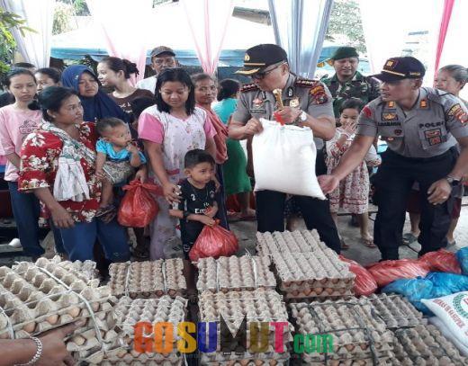 Polresta Deliserdang Berikan Bantuan Sembako Untuk Korban Banjir