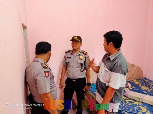 Ditemukan Tewas Gantung Diri, Kapolsek Bilah Hilir Olah TKP di Tanjung Haloban